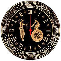 "настенные часы на стекле ""Орнамент"" круглые"