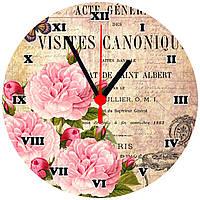 """настенные часы на стекле """"Visites canonique"""" круглые"""