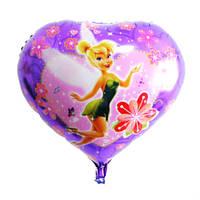 Фольгированный шарик сердце Фея Динь Динь