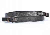 Ремень на ружье прямой кожа тисненный «Олени», фото 1