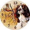 "настенные часы на стекле ""Охота"" круглые"