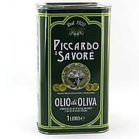 Оливковое масло Piccardo e Savore Olio di Oliva смесь рафинированного и extra vergine ж/б 1 л., фото 1