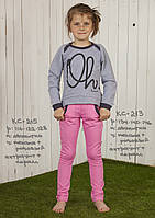 Спортивный костюм для девочки. комплект лосины и кофта.