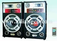 Акустическая система AILIANG USBFM-6012, акустика 12''+12''/USB/SD/FM, bluetooth акустика