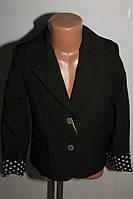 Пиджак на девочку школьный черный Украина 122-134 р.