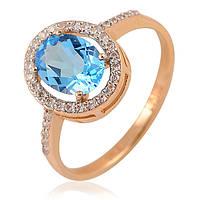 Кольцо из золота с большим топазом, фото 1