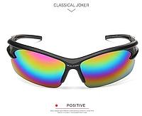 Мужские солнцезащитные очки спортивные радужная оправа пластик, Очки для спорта, для велосипеда