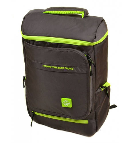 Городской рюкзак с уплотненной спинкой текстиль Lanpad 20 л. 1830-shs green (зеленый)