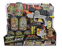 Бластер Dual Зомбі X-Shot два вида зброї (6 банок, 4 дартса, 6 дисків)