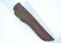 Чехол для ножа малый конверт плетеный кожаный коричневый