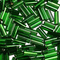 """Стеклярус Preciosa Чехия 351-32001 3"""" 57120 зеленый 25г"""