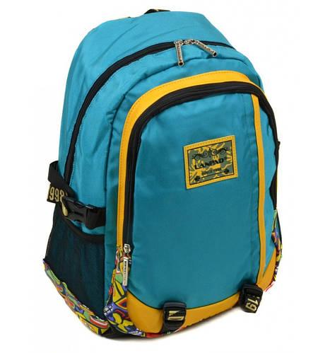Городской прочный рюкзак текстиль Lanpad 27 л.  3374 l-blue (голубой)