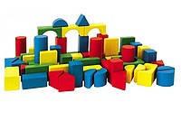 Маленький город, 32 элемента, деревянный конструктор (HEROS) Simba 27181