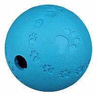 Trixie ТХ-34942 мяч-кормушка, натуральный каучук 9см, фото 1