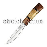 Нож охотничий NO 2283 BL (береста,красн.дерево)