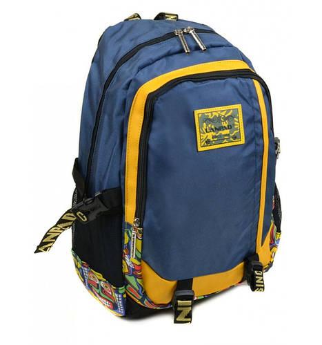 Городской прочный рюкзак текстиль Lanpad 3374 blue (синий)