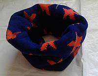 Тёплый детский шарф, хомут, снуд
