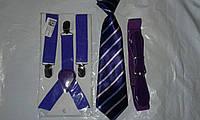 Джентльменский набор (галстук в полоску) Фиолетовый