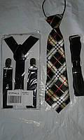 Джентльменский набор (галстук в клетку) Черный