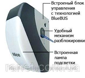 Привод NICE SO 2000 осевой навальный для секционных промышленных ворот, купить в Киеве