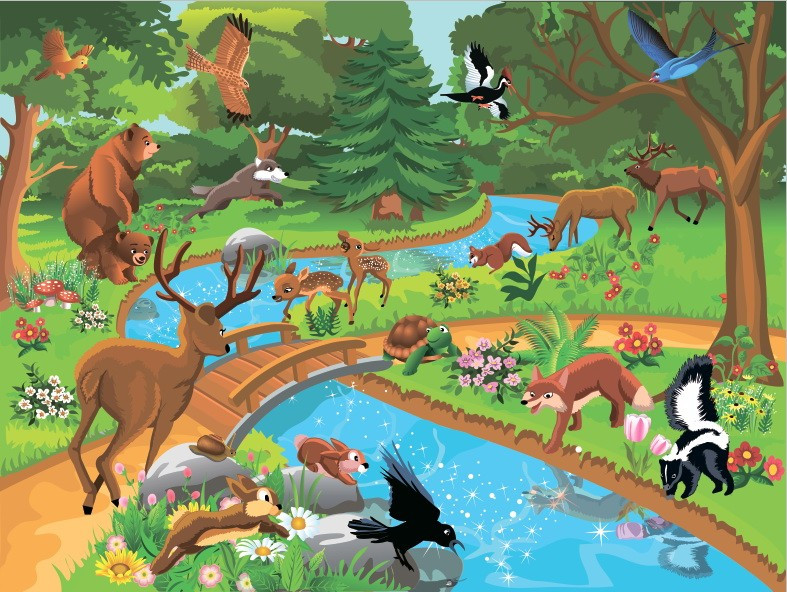 Фотообои Лесные звери