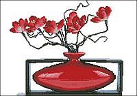 """Схема для вышивки """"Цветок в вазе"""""""