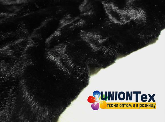 Искусственный эко мех норка черный, фото 2