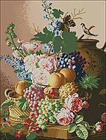 """Схема для вышивки """"Цветочно-фруктовый натюрморт"""""""