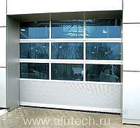 Секционные панорамные автоматические ворота Алютех (Alutech)