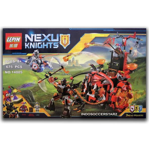 Конструктор Lepin 14005 Nexo knights Джестро-мобиль 675 деталей