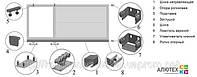 Фурнитура Alutech (Алютех), комплект консольный средний до 700 кг, Киев, купить
