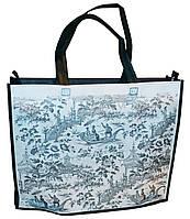 Эко-сумка из натурального материала с рисунком