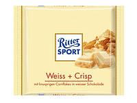 Шоколад Ritter Sport Weiss + Crisp (Риттер Спорт с кукурузными хлопья), 100 г, фото 1