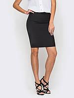 Женская юбка черного цвета прямого фасона р.44,46