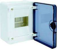 Щит наружной установки с прозрачной дверью, 4 мод. Hager GOLF VS104TD