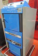 Пиролизный твердотопливный котел с газификацией древесины ATMOS DC 15E площадь обогрева помещения до 150 м2