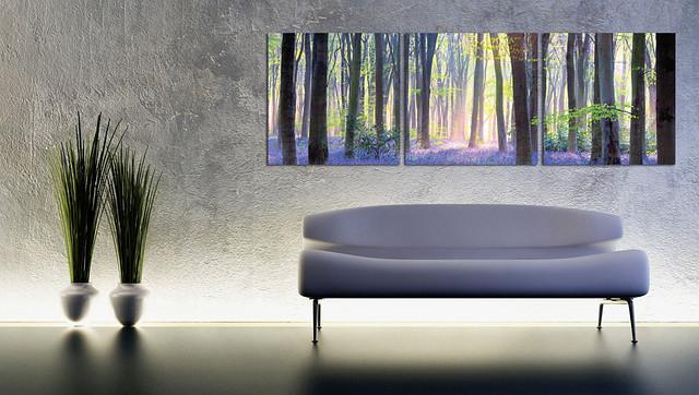 """Картина декоративна """"Голубий ліс"""""""