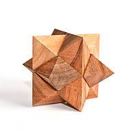 Деревянная головоломка Падающий шар (остроугольный)
