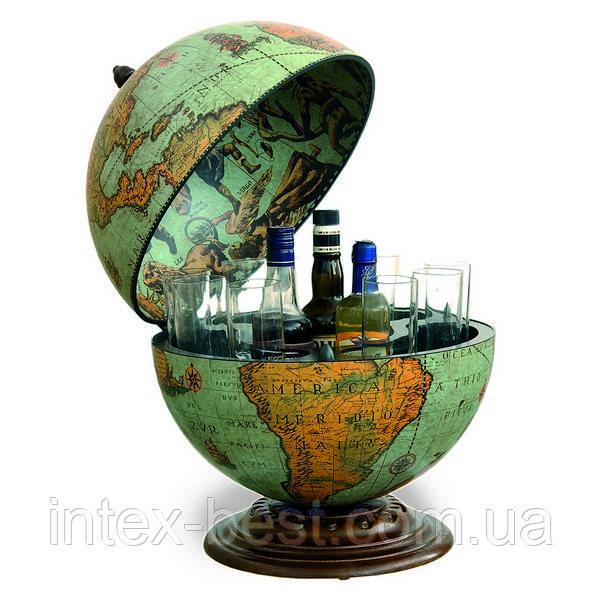 Глобус-бар настольный D:40cm 40*50cm зеленый  Zoffoli