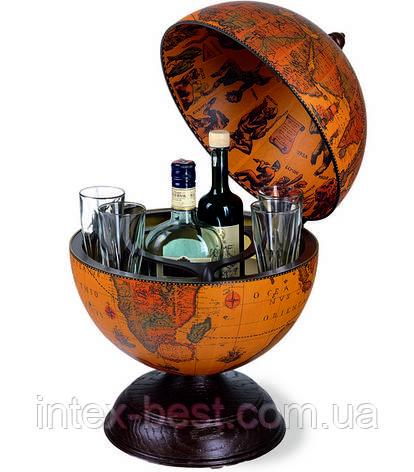 Глобус-бар настольный D:33cm 33*47cm  Zoffoli, фото 2