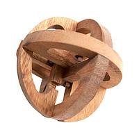 Деревянная головоломка Вращающийся шар