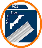 Плинтус потолочный Premium decor PG4 2 м (36*30)