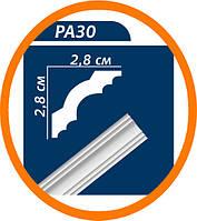Плинтус потолоч��ый Premium decor PA30(MP) 2 м (28*28)