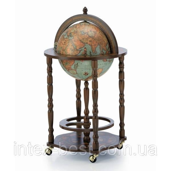 Глобус-бар D:33cm 47*84cm зеленый Zoffoli
