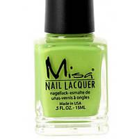 Профессиональный лак для ногтей Misa 182: LET'S GO GREEN, 15 мл.