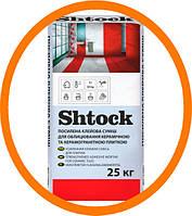 Shtock Усиленная клеевая смесь для облицовки керамической и керамогранитной плиткой, 25 кг