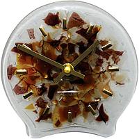 Настольные часы Весна 12,5*12,5 см коричн.