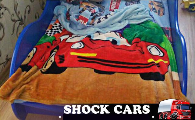 Плед Тачки из микрофибры купить в ассортименте в магазине Кровать-машина Shock Cars