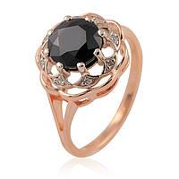 Золотое кольцо с бриллиантами и сапфирами, фото 1