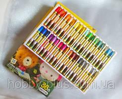 Пастель масляная для тонировки фоамирана, набор 36 цветов